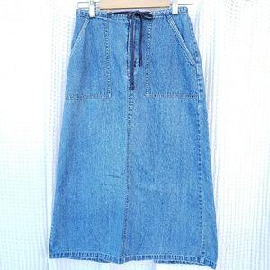 Eddie Bauer Midi jean skirt size Petite 2
